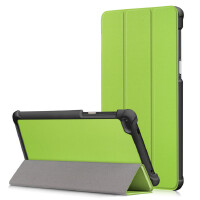 联想Tab4 7寸平板保护套TB-7504F皮套简约TB-7504N/X防摔手机外壳 绿色 礼品