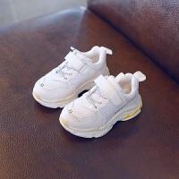 拥抱熊 2018新款儿童运动鞋春季女童透气休闲跑步鞋男童韩版中大童小白鞋