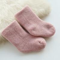儿童家居袜子冬季男女童双层毛圈加厚棉袜嘘寒亲子宝宝保暖中筒袜