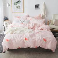 少女ins床上四件套1.5/1.8米床双人床单被套床品2.0m卡通被罩