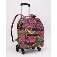 3件7折双肩包拉杆包男手提包万向轮大容量折叠拉杆袋女牛津布旅行包背包 大