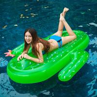 水上充气垫充气水上浮排 充气仙人掌浮舟游泳漂浮沙滩游泳装备用品