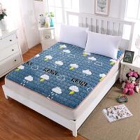 法兰绒睡垫学生宿舍上下铺法莱绒榻榻米床垫床单儿童床褥1.5/1.8m 1.8m*2.0m [大双人床适用]