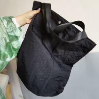 (工厂出口―超级大)个性大单肩包防水尼龙牛津布洋气托特包书包