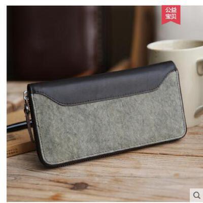 钱包男长款拉链手机包男士手拿包包卡包复古商务手抓包手 品质保证 售后无忧 支持货到付款