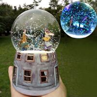 几米遇见发光雪花水晶球音乐盒八音盒创意结婚礼物情人节男女生日