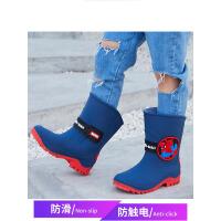 儿童雨鞋男童防滑中大童水鞋水靴加绒加厚宝宝雨靴女 jt9