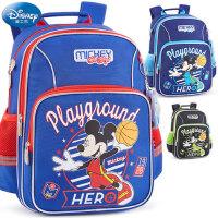 迪士尼小学生书包童1-3-4年级男米奇男孩6-12岁儿童减负双肩背包