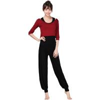 灯笼裤瑜伽套装秋冬女三件套莫代尔显瘦中长袖瑜珈舞蹈健身表演服