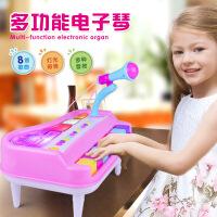 仿真灯光音乐电子琴 多功能带麦克风电子钢琴 儿童乐器玩具