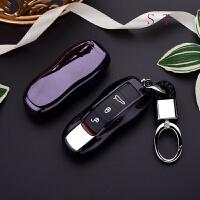 适用于保时捷汽车钥匙包卡宴918macan保护套扣壳帕拉梅拉911TPU