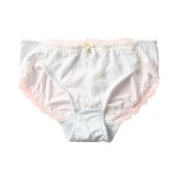 满30唯美刺绣花朵清新风蕾丝边牛奶丝内裤女中低腰三角裤