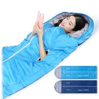 睡袋户外男女秋冬可伸手保暖午休露营双人室内四季棉睡袋