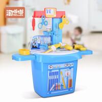 儿童医生玩具套装女孩过家家仿真声光打针玩具宝宝医药箱玩具 医生工具21件套