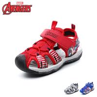 迪士尼Disney童鞋2018新款儿童凉鞋美国队长男童沙滩鞋包头防踢沙滩凉鞋(5-10岁可选)  DS2767