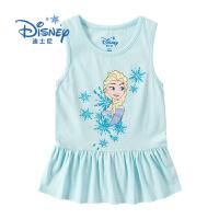 【99元3件】迪士尼冰雪奇缘童装女童夏装2020春夏新品无袖连衣裙背心裙裙子