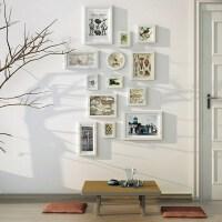 居家相框/照片墙居家饰品照片墙墙悬挂小墙面装饰挂墙组合画框简约黑白竖版相片墙