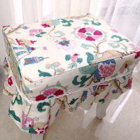 ???全棉椅子套长方凳圆凳化梳妆钢琴凳子套子罩布艺凳套坐垫尺寸椅子