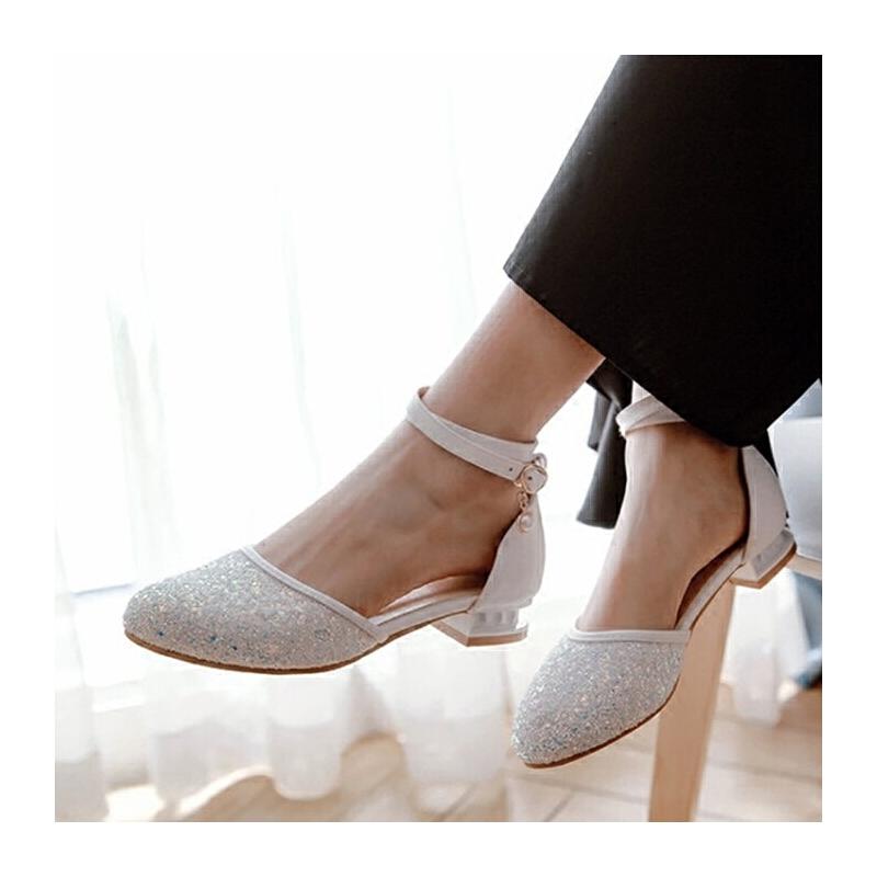 中大女童凉鞋新款韩版夏季时尚白色中小学生包头表演舞蹈鞋