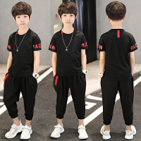男童夏装套装夏季童装中大儿童短袖T恤韩版帅气两件套潮