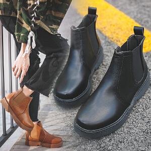 女式 秋冬新款冬季英伦风短靴女低跟切尔西女靴保暖靴子
