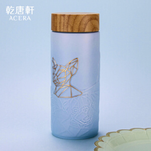 新品唐乾乾唐轩活瓷杯幸福时光随身杯双层陶瓷水杯杯子狗年春节礼
