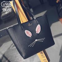 优尚包包2018新款韩版可爱兔耳朵单肩包女包时尚托特包手提大包包