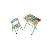 卡通幼儿园小学生儿童可折叠学习桌椅套装写字台吃饭桌可升降