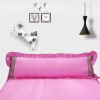 纯色全棉夹棉花边双人枕套1.5米纯棉加厚1.2长枕芯套1.8米