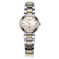 【专柜同款】古尊女表优雅贝母女士手表防水精钢石英表腕表9100