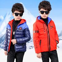 男童棉衣外套儿童秋冬季棉袄保暖连帽两面穿衣