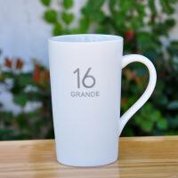 【每满200减100】白领公社 陶瓷杯 带盖带勺创意男女学生咖啡牛奶马克杯咖啡杯办公家用可爱卡通便携式大容量450ml