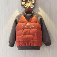 №【2019新款】冬天儿童穿的男童加绒卫衣韩版打底衫儿童加厚洋气宝宝套头上衣潮