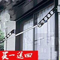 阳台晾衣架卫生间室内外墙悬臂飘窗台壁式折叠隐形晾衣架