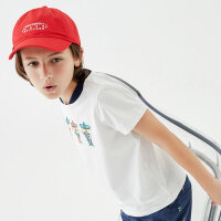 【1件2折到手价:31.8】米喜迪童装男童t恤夏新款棒球领趣味印花短袖儿童t恤