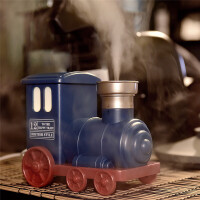 自由星小火车加湿器迷你usb静音加湿器 复古火车头雾化增湿器