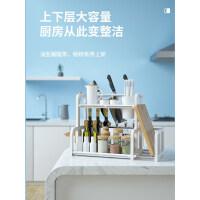 厨房置物架调料调味用品用具家用收纳刀架落地储物筷子双层2厨具ig8