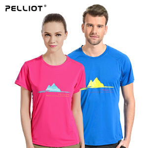 【保暖节-狂欢继续】法国PELLIOT伯希和 速干t恤女短袖  运动排汗快干速干衣圆领户外T恤夏