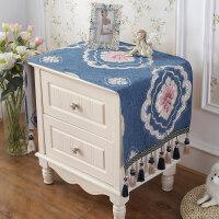 欧式床头柜盖巾雪尼尔电视柜布盖布防尘罩盖布多用巾小桌布小方巾