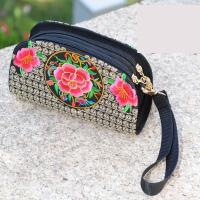 2018新款刺绣花民族风包手机零钱包双层小包女士手拿包中国风礼物