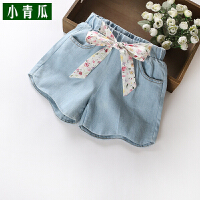 女童短裤女孩外穿夏季新款儿童装中大童牛仔裤夏装薄款热裤潮