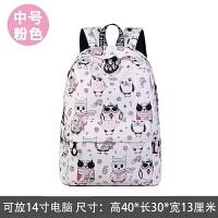 韩版卡通书包初高中小学生女童公主女孩儿童印花背包休闲双肩背包