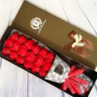 创意情人节礼物 送女友生日玫瑰花香皂花女朋友实用皂花束
