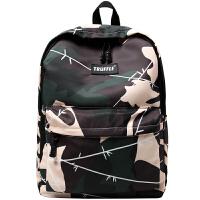 书包男时尚潮流迷彩双肩包初中高中学生休闲旅行背包