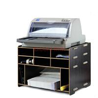大政办公木质桌面收纳柜票据快递单打印机架多层格子置物架D098