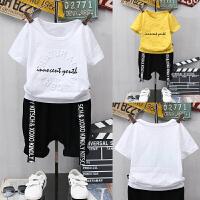 童装男童夏装套装新款中大童韩版儿童短袖两件套宝宝运动潮衣