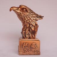 办公室桌面摆件鹰头工艺品老鹰大展宏图开业礼品家居风水摆设镀铜