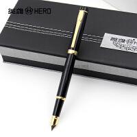正品HERO英雄钢笔3802黑丽雅铱金笔 钢笔 墨水笔 书法练字礼品笔