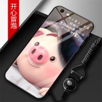 苹果6G手机壳女款玻璃新款挂绳个性创意防摔全包卡款