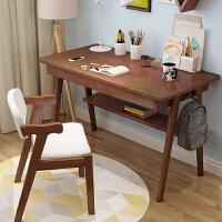 全实木书桌简约家用台式电脑桌卧室中小学生写字台北欧学习桌套装
